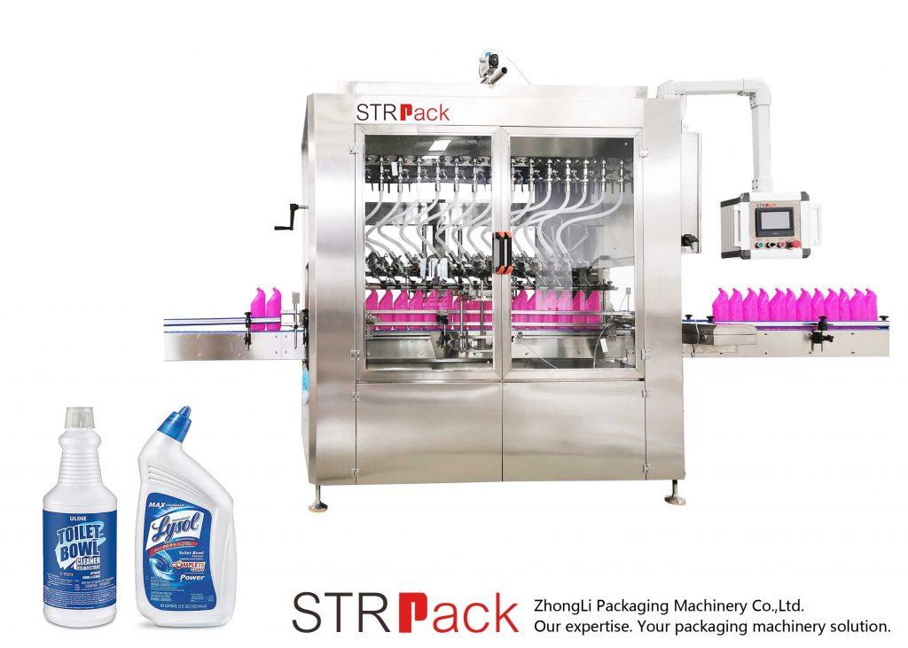 Nurgakaelaga pudeli vedeliku täitmise masin
