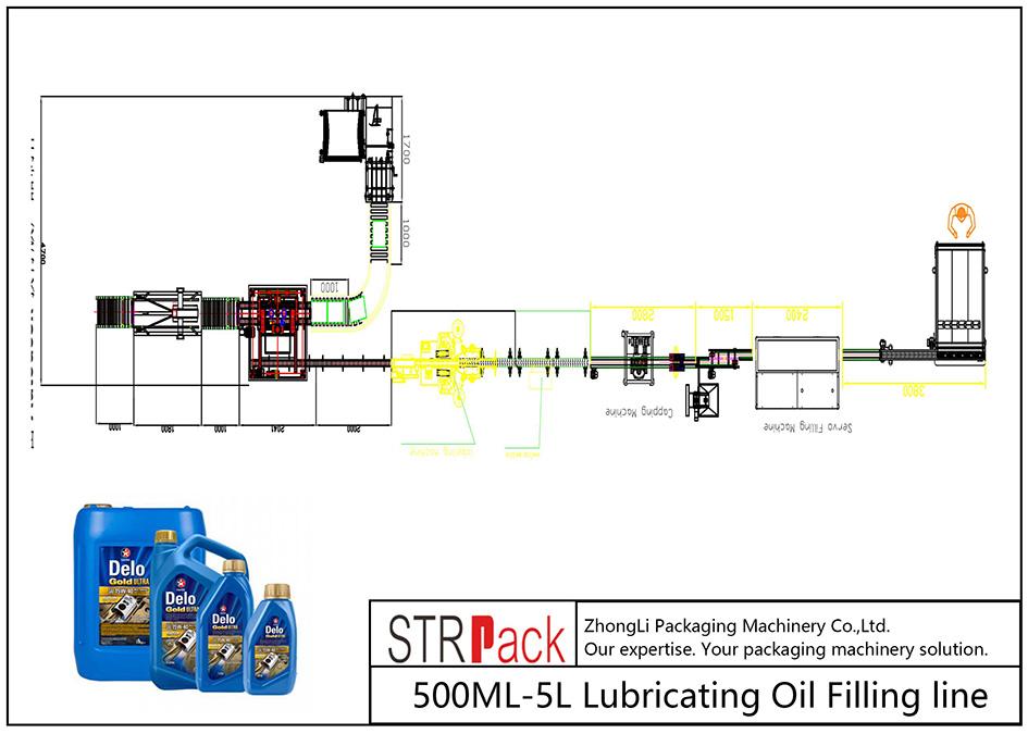 Automaatne 500ML-5L määrdeõli täitejoon