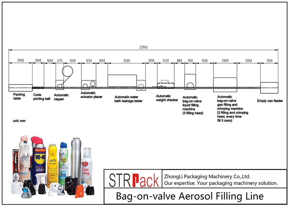 Automaatne klapi ja ventiiliga aerosooli täitmise masin