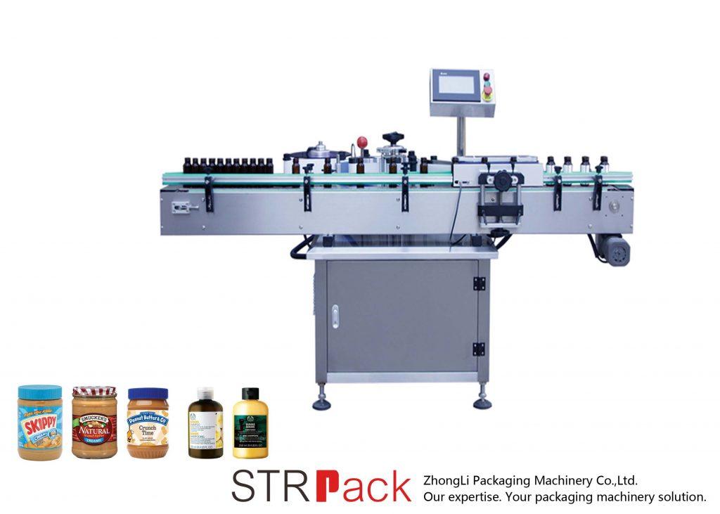 Vertikaalne isekleepuv ümar pudelimärgistamismasin